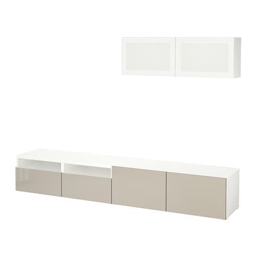 Best Tv Storage Combinationglass Doors Whiteselsviken High Gloss