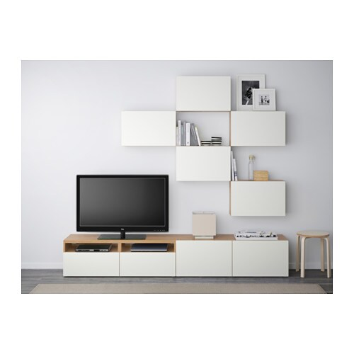 tv storage combination best oak effect lappviken white