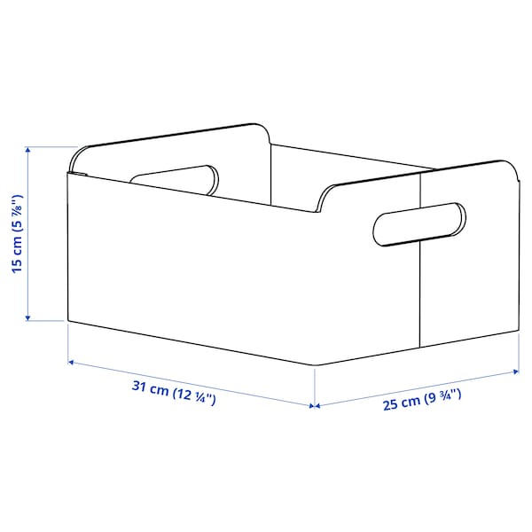 BESTÅ Box, grey, 25x31x15 cm