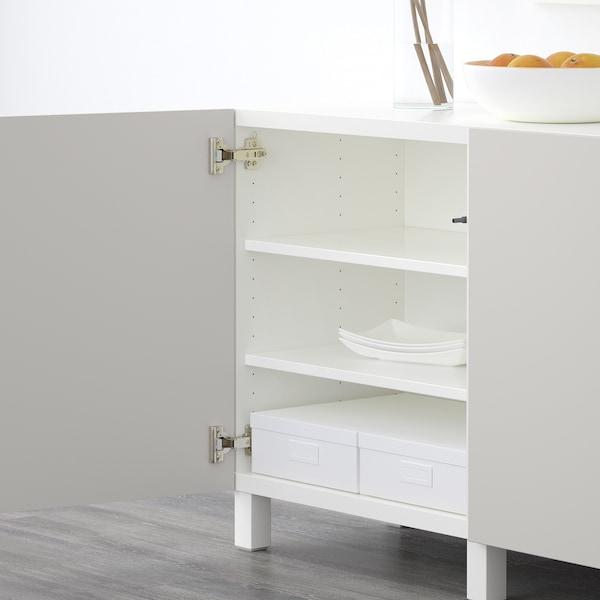 BESTÅ Storage combination with doors, white/Lappviken light grey, 180x40x74 cm
