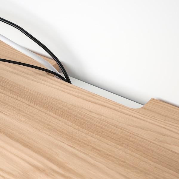 BESTÅ Top panel for TV, oak veneer, 120x42 cm