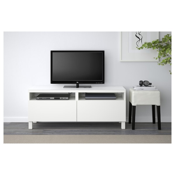 Tv Bench With Drawers Lviken White