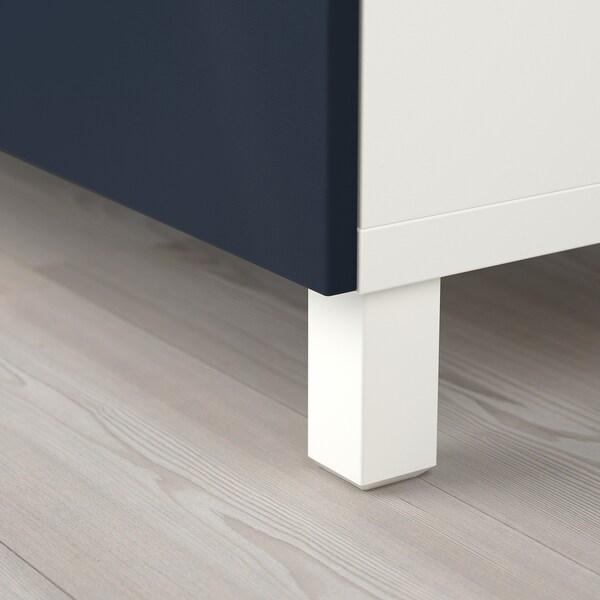 BESTÅ TV bench with drawers white/Notviken/Stubbarp blue 120 cm 42 cm 48 cm 50 kg