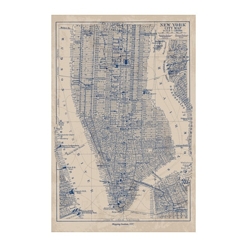 bild poster manhattan map 61x91 cm ikea. Black Bedroom Furniture Sets. Home Design Ideas