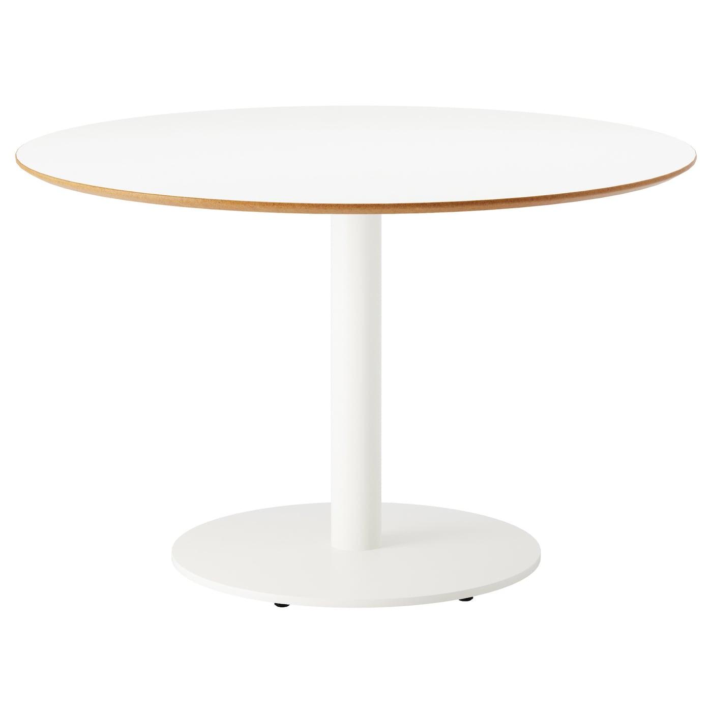 Billsta table white white 118 cm ikea for Ikea round pedestal table