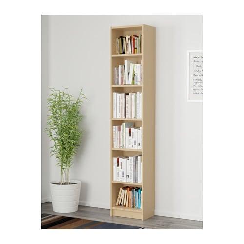 billy bookcase birch veneer 40x28x202 cm ikea