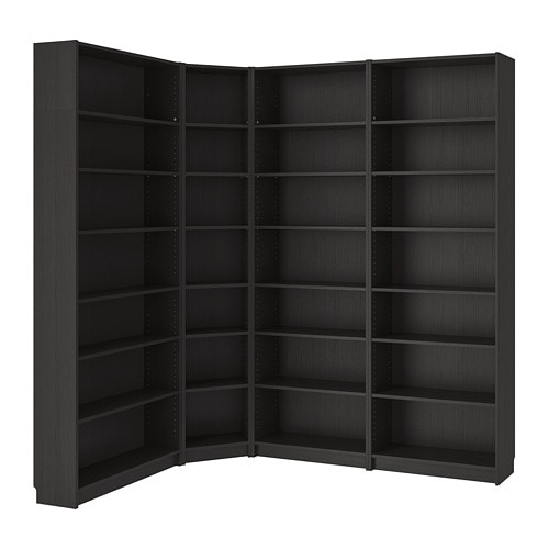 Ikea Billy Bookcase Make Use Of The Room S Maximum Surface Area With Corner Shelving