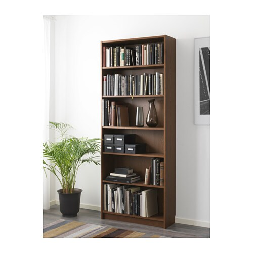 billy bookcase brown ash veneer 80x28x202 cm ikea. Black Bedroom Furniture Sets. Home Design Ideas