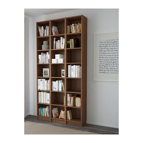billy bookcase brown ash veneer 120x237x28 cm ikea. Black Bedroom Furniture Sets. Home Design Ideas