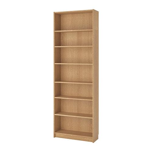 billy bookcase oak veneer 80 x 28 x 237 cm ikea. Black Bedroom Furniture Sets. Home Design Ideas