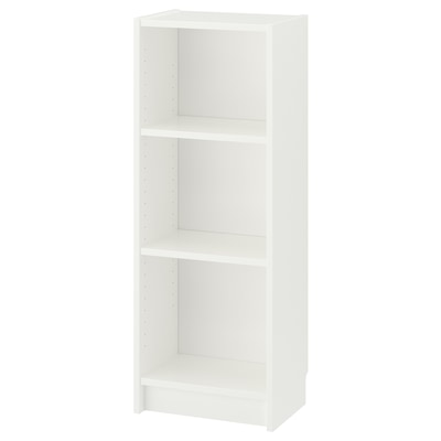 BILLY Bookcase, white, 40x28x106 cm