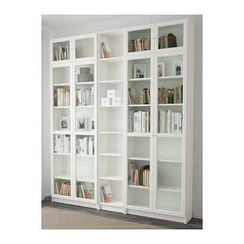 Billy oxberg bookcase white 200x237x30 cm ikea Libreria billy ikea