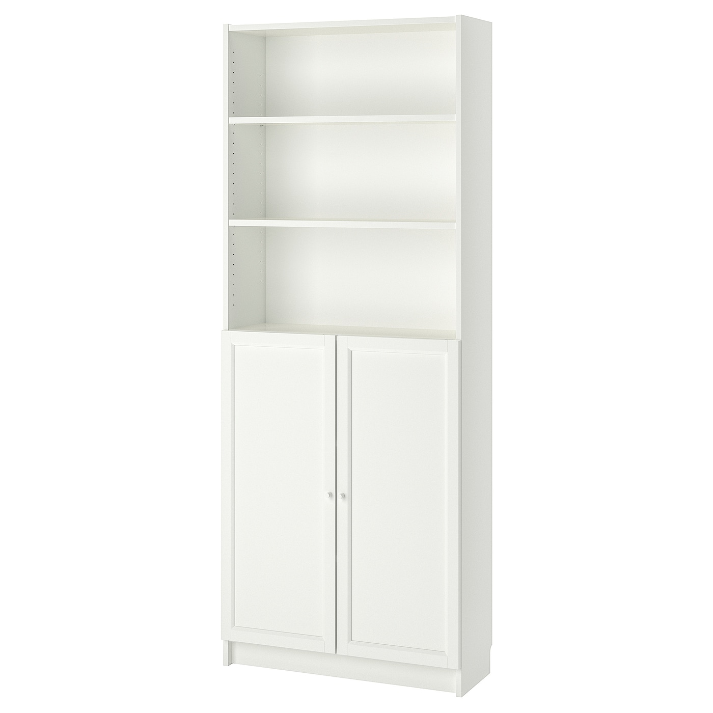 Ikea billy oxberg bookcase with doors