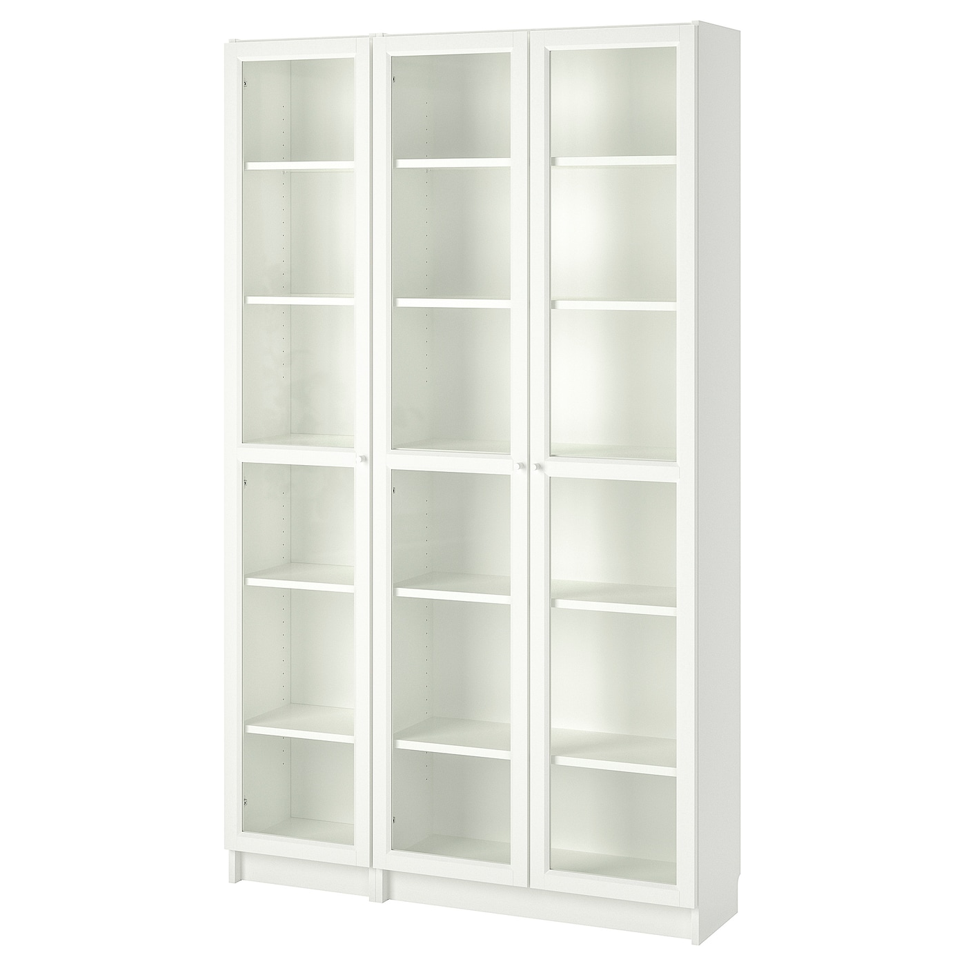 billy oxberg bookcase with glass doors white 120 x 30 x. Black Bedroom Furniture Sets. Home Design Ideas