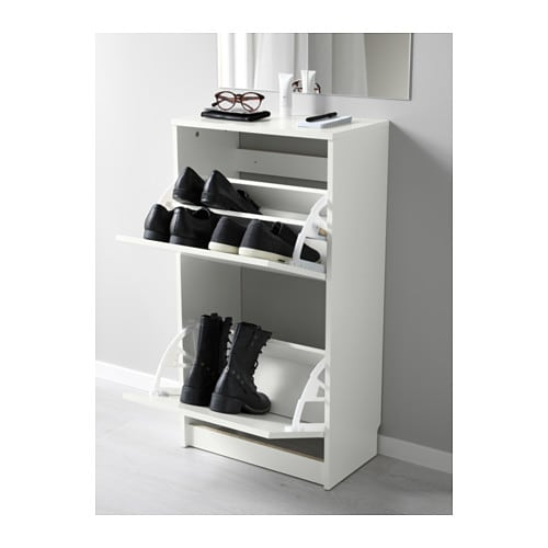 Bissa shoe cabinet with 2 compartments white 49x93 cm ikea - Armoire a chaussure ikea ...