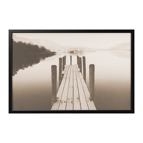 Björksta Picture With Frame Jetty At Dawnblack 78 X 118 Cm Ikea
