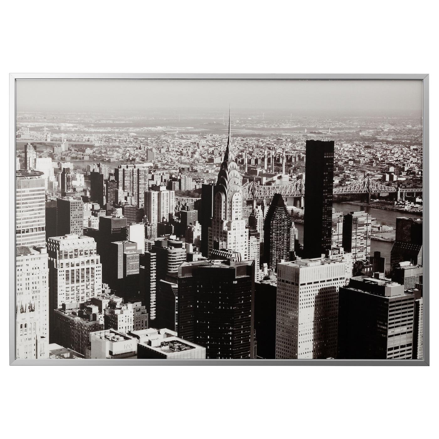 bj rksta picture with frame metropolitan aluminium colour 200 x 140 cm ikea. Black Bedroom Furniture Sets. Home Design Ideas