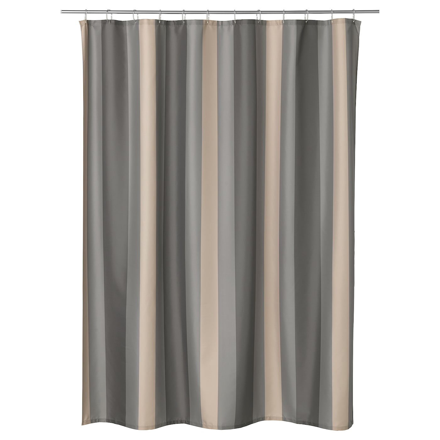 IKEA BJÖRNÅN shower curtain Densely-woven polyester fabric with water-repellent coating.