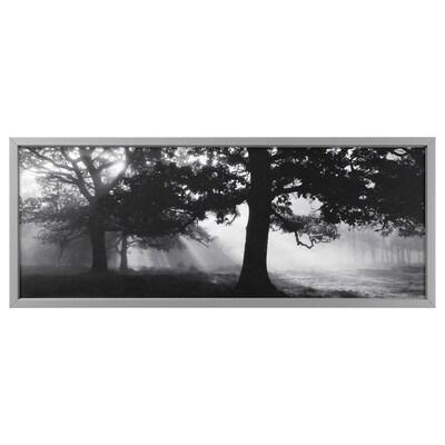 BJÖRKSTA picture with frame Meadow Dream II/aluminium-colour 140 cm 56 cm