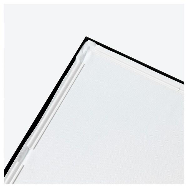 BJÖRKSTA Picture with frame, Misty landscape/black, 140x100 cm