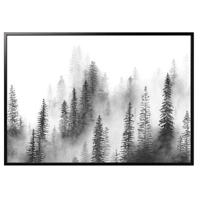 BJÖRKSTA picture with frame Pines/black 200 cm 140 cm