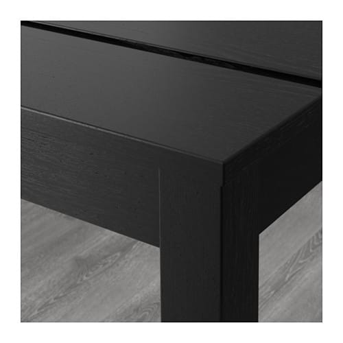 IKEA BJURSTA bench The clear-lacquered surface is easy to wipe clean.
