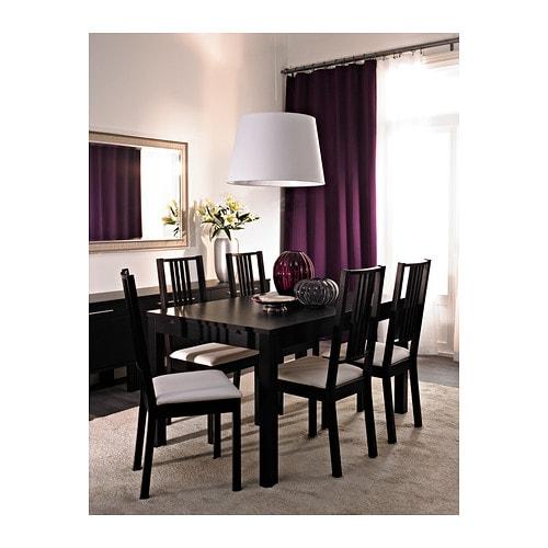 bjursta extendable table brown black 140 180 220x84 cm ikea. Black Bedroom Furniture Sets. Home Design Ideas