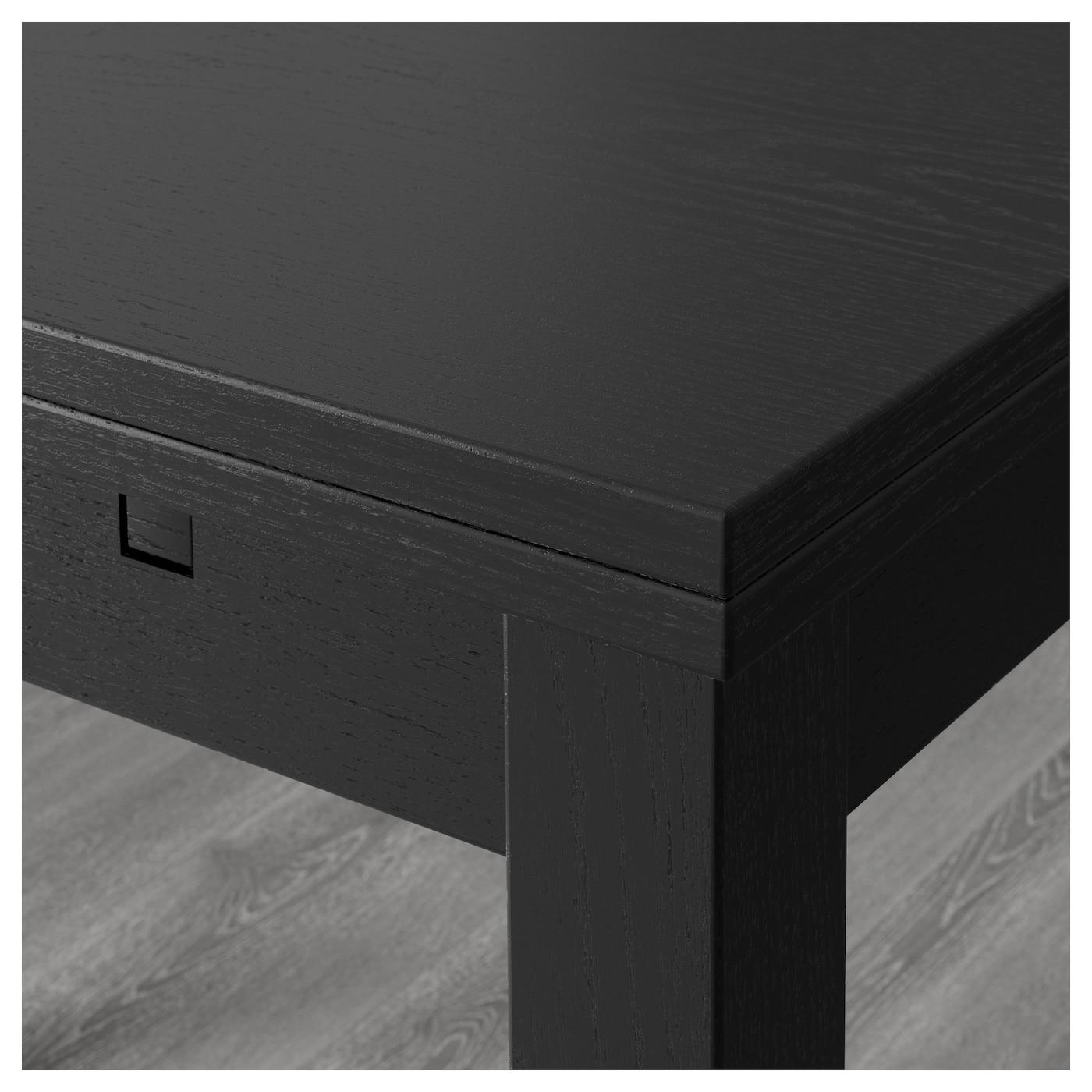 BJURSTA Extendable Table Brown Black 140 180 220x84 Cm