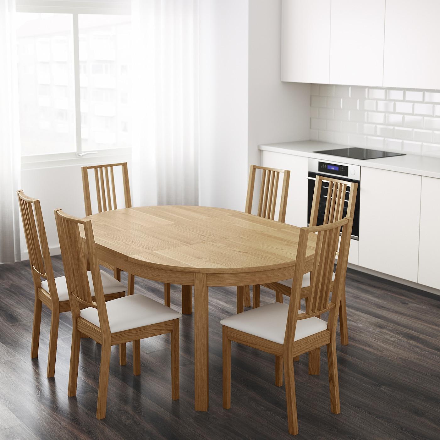 Bjursta Extendable Table Oak Veneer Max 166 Cm Ikea Ireland