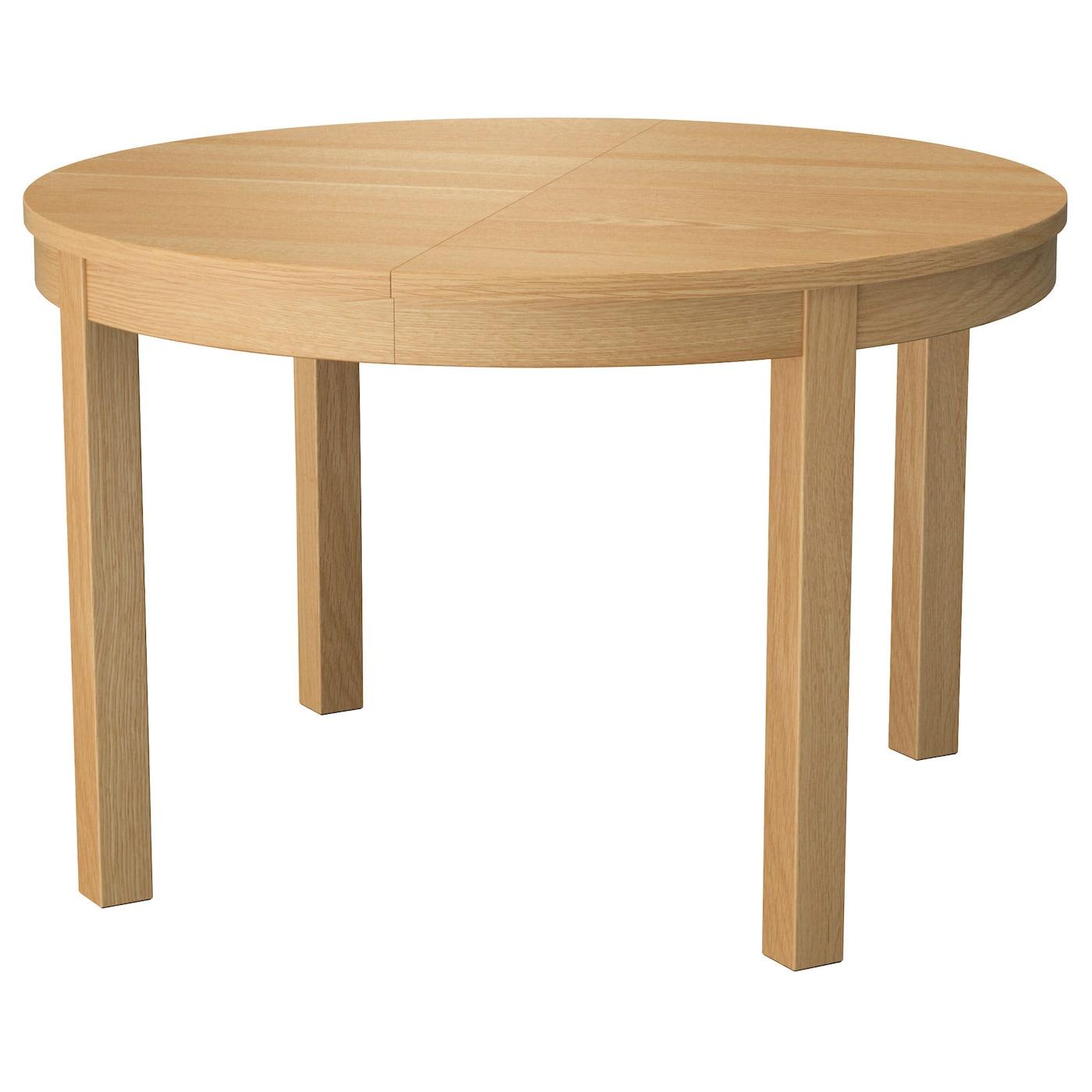 Bjursta extendable table oak veneer 115 166 cm ikea for Bjursta table