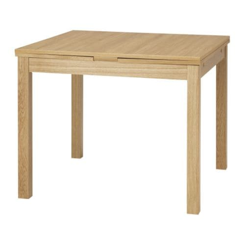 BJURSTA Extendable Table Oak Veneer 90 129 168x90 Cm IKEA