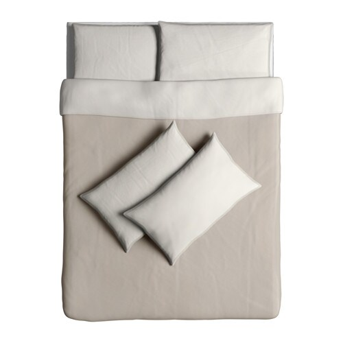 bl vinda quilt cover and 4 pillowcases beige 200x200 50x80. Black Bedroom Furniture Sets. Home Design Ideas