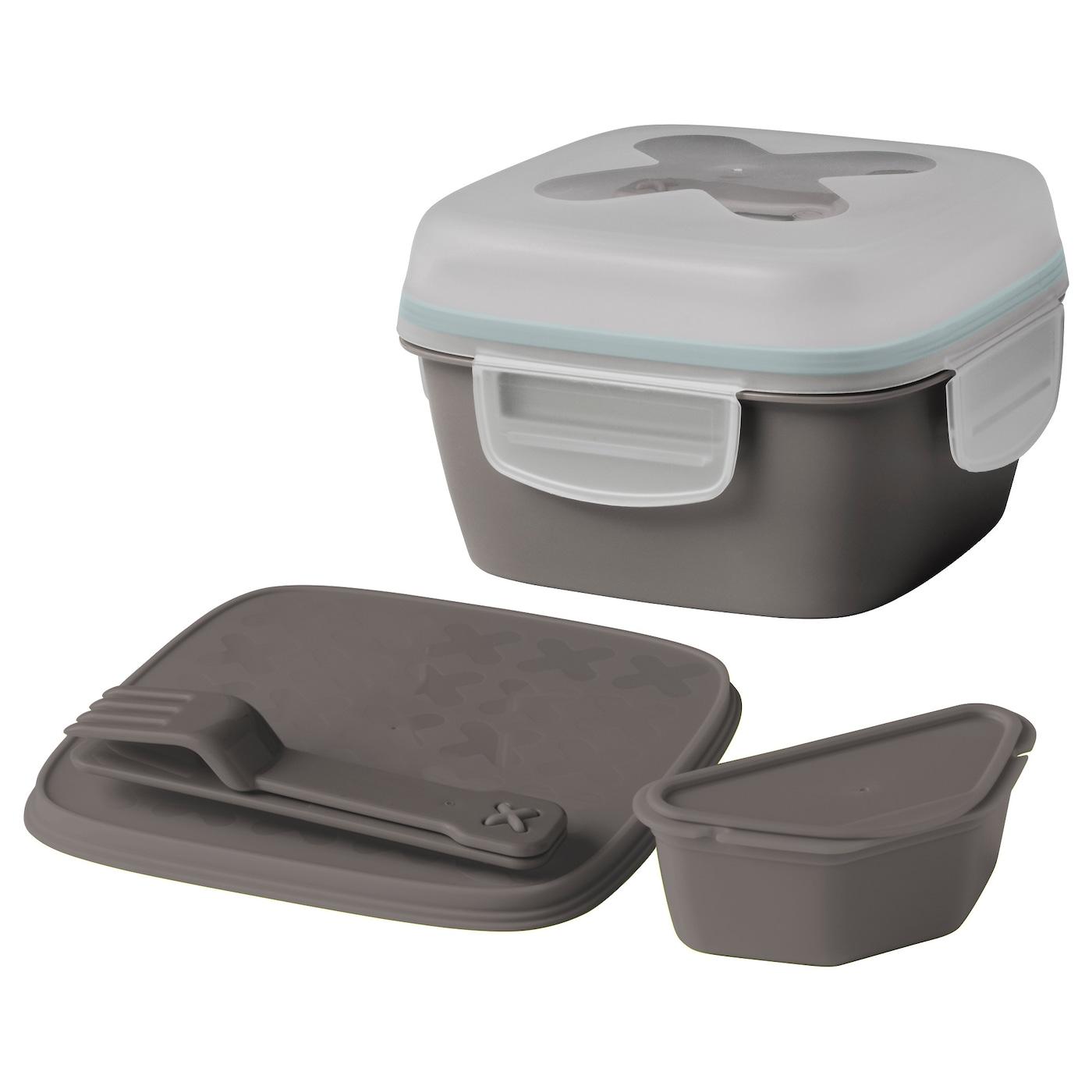 blandning lunch box for salad grey 17 x 17 x 11 cm ikea. Black Bedroom Furniture Sets. Home Design Ideas