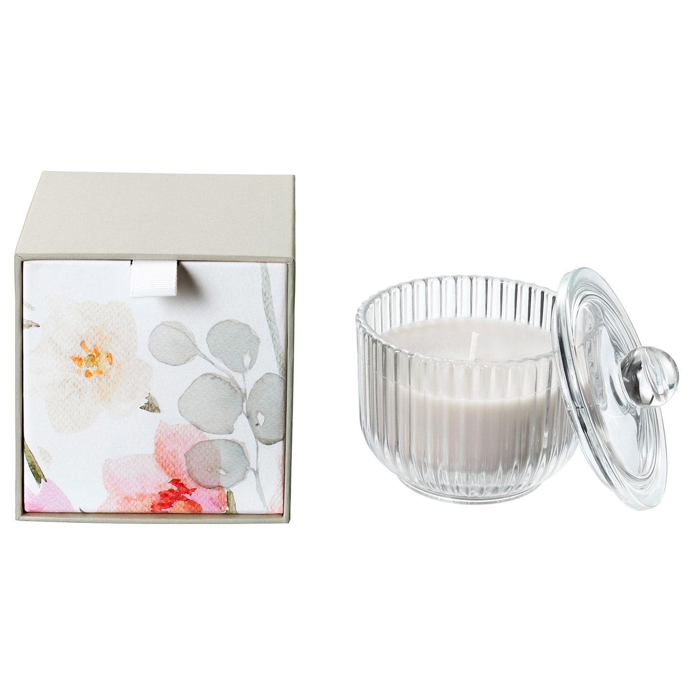 IKEA BLOMDOFT scented candle in glass