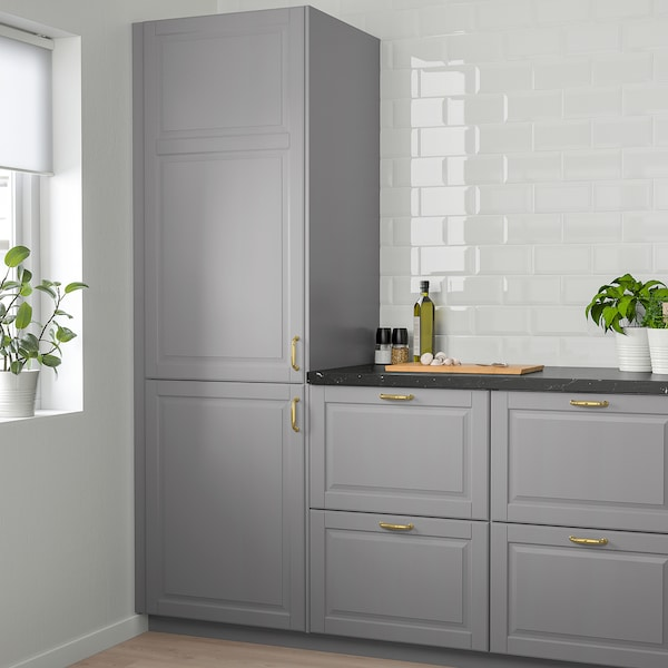 BODBYN Door, grey, 60x140 cm
