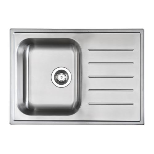 Stainless Steel Sink Inserts : BOHOLMEN 1 bowl insert sink drain+str/wtrap IKEA 25 year guarantee ...