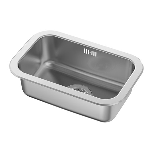 IKEA BOHOLMEN inset sink, 1 bowl 25 year guarantee. Read about the terms in the guarantee brochure.