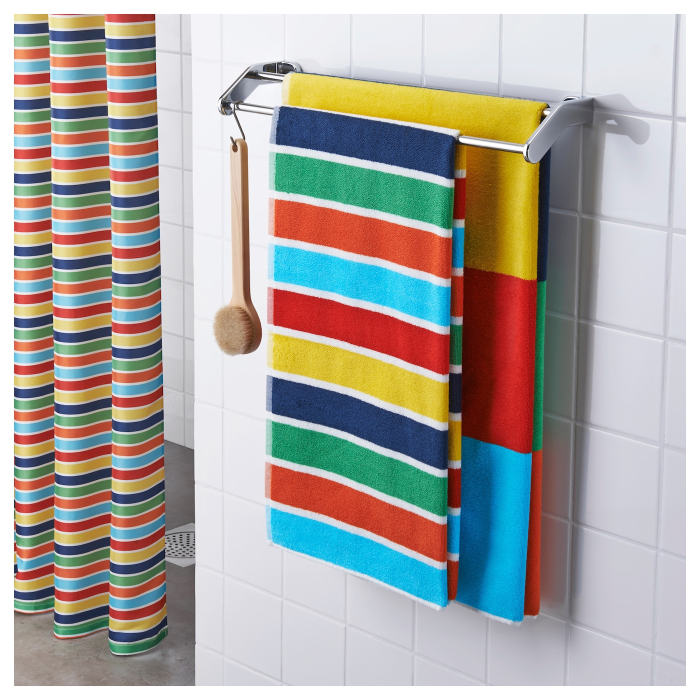 bokvik bath towel multicolour 70x140 cm ikea. Black Bedroom Furniture Sets. Home Design Ideas