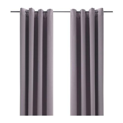 Bollolvon Block Out Curtains 1 Pair Grey 145x250 Cm Ikea
