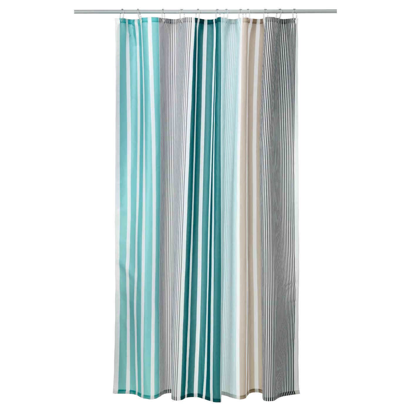 IKEA BOLMÅN shower curtain Densely-woven polyester fabric with water-repellent coating.