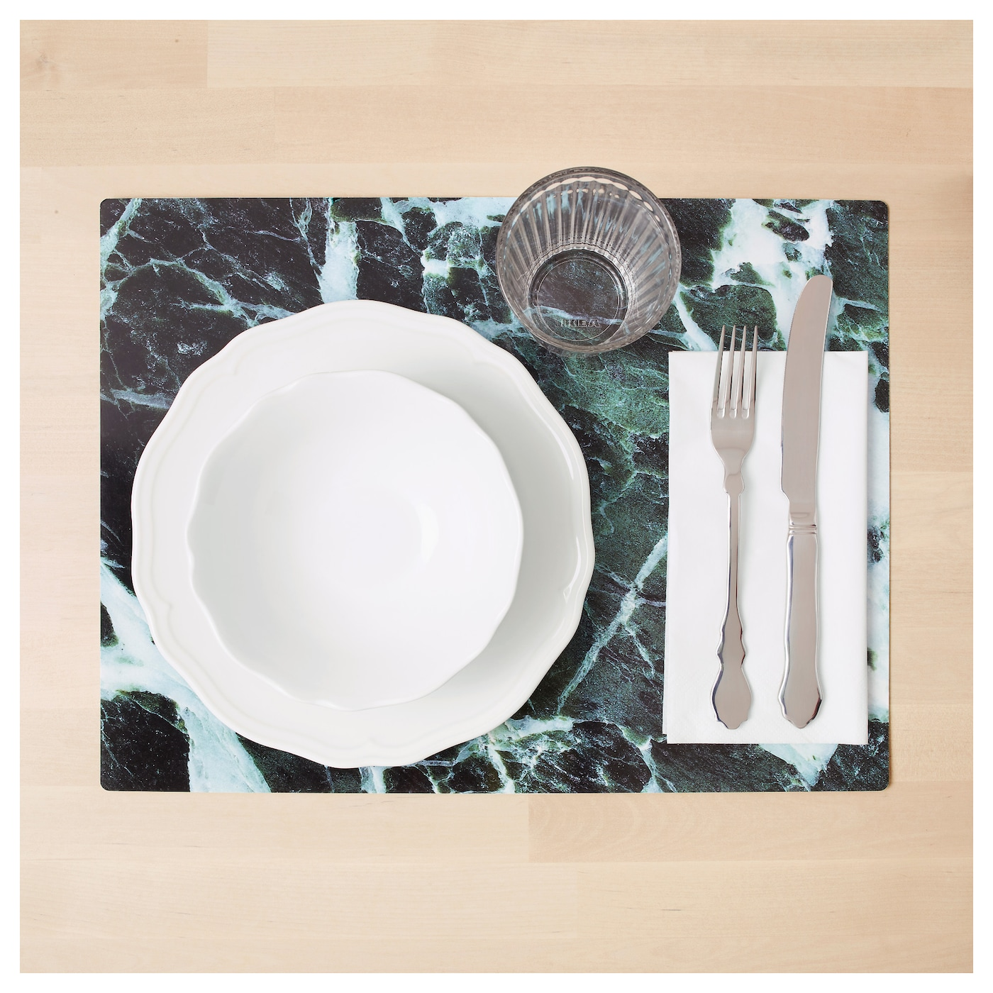 IKEA BORGERLIG place mat Protects the table top surface and reduces noise from plates and cutlery.