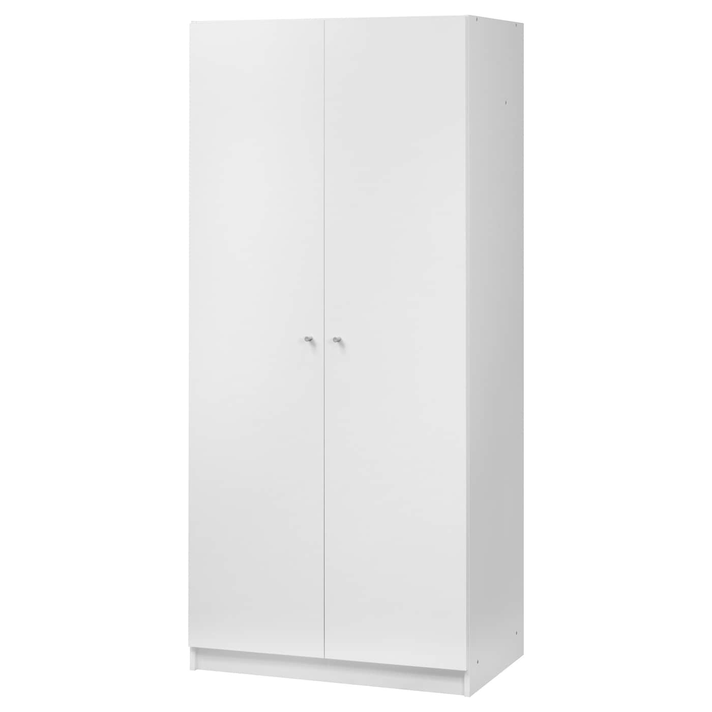 Bostrak wardrobe white 80x50x180 cm ikea for Armoire penderie blanc conforama
