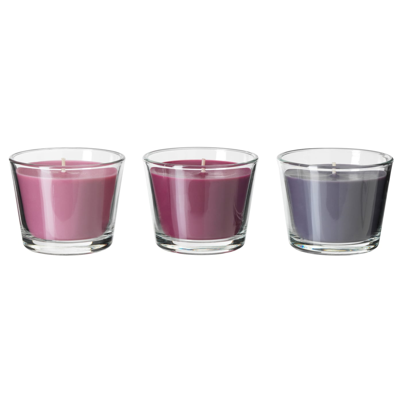 IKEA BRÄCKA scented candle in glass Sweet scent of plum with notes of caramel and vanilla.
