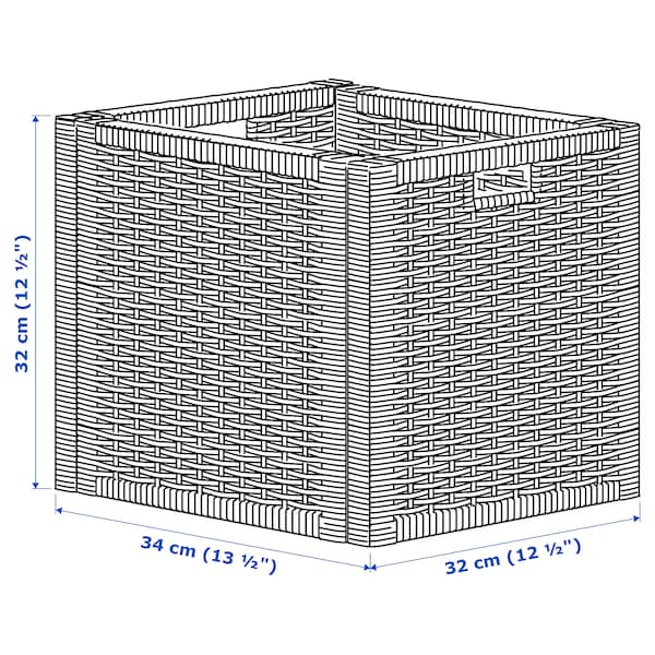 BRANÄS Basket, dark grey, 32x34x32 cm