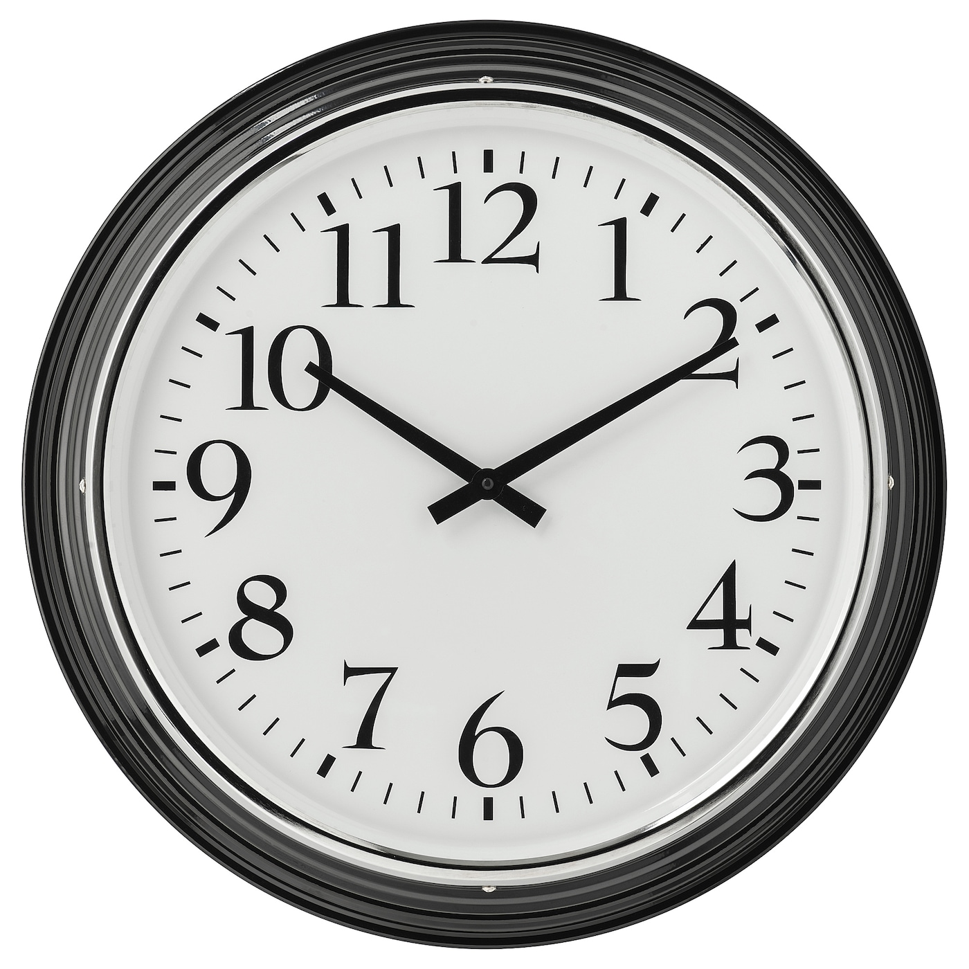 IKEA BRAVUR wall clock Highly accurate at keeping time as it is fitted with a quartz movement.
