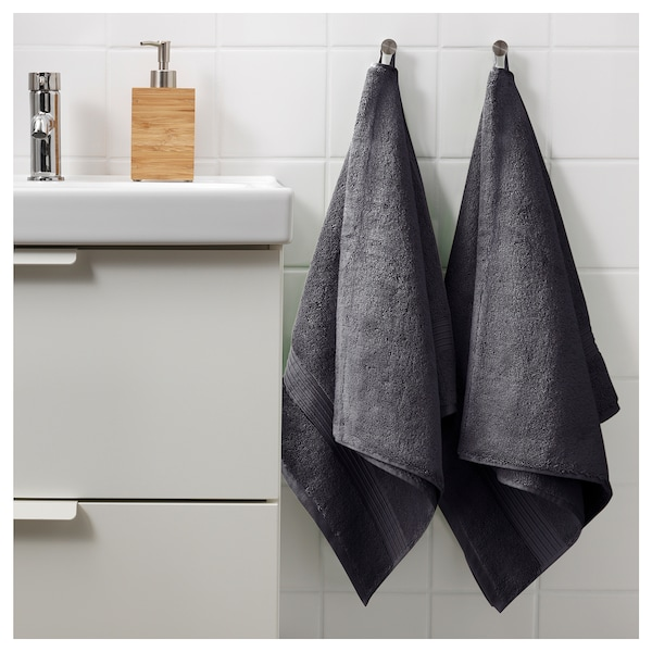 BREDASUND bath sheet dark grey 150 cm 100 cm 700 g/m²
