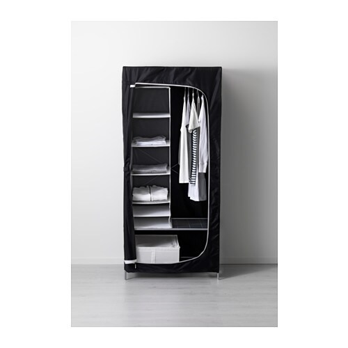 Breim wardrobe black 80x55x180 cm ikea - Ikea ps armario ...
