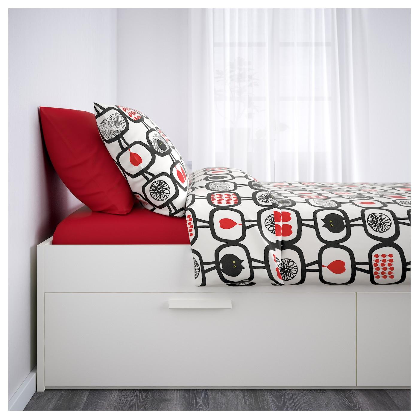 brimnes bed frame with storage white lur y standard king ikea. Black Bedroom Furniture Sets. Home Design Ideas