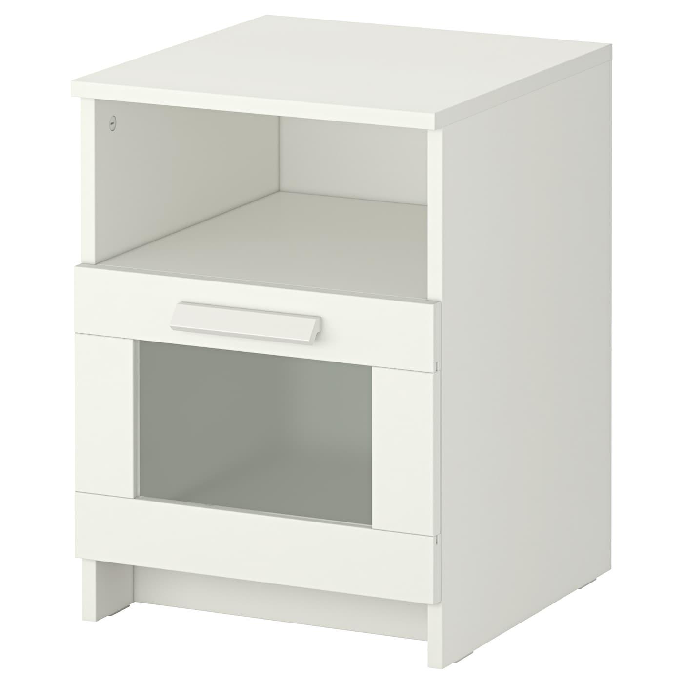 BRIMNES Bed frame w storage and headboard White leirsund Standard