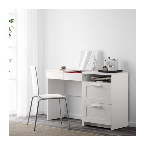 Brimnes dressing table chest of 2 drawers white ikea for Ikea malm schreibtisch